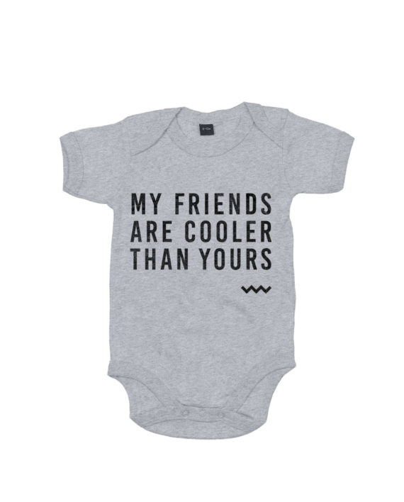 Baby-romper-grijs-friends